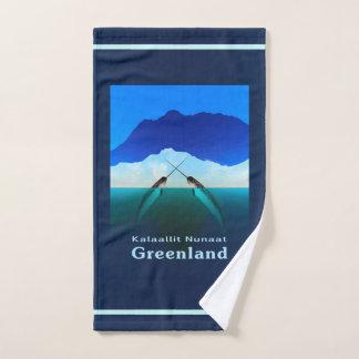 グリーンランド- Narwhal ハンドタオル