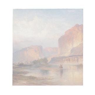 グリーンリバー-トマスMoran (1874年)の崖 ノートパッド