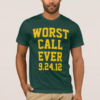 グリーン・ベイフットボール: 最も悪い呼出し9/24/12枚のワイシャツ Tシャツ