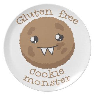 グルテンの自由なクッキーモンスター プレート