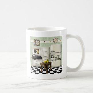グルテンの自由な台所緑 コーヒーマグカップ