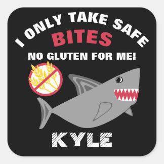 グルテンの自由な鮫私は安全なかみ傷の子供を取ります スクエアシール