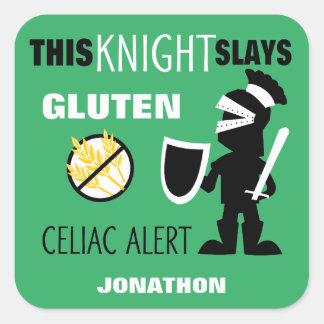 グルテンの自由なCeliac注意深い緑の騎士子供 スクエアシール