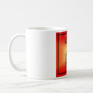 グルテンのFree'Dのマグ-正方形の赤い火のロゴ コーヒーマグカップ