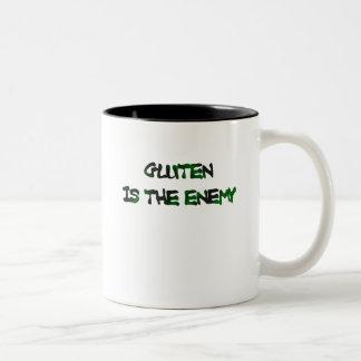 グルテンは敵のマグです ツートーンマグカップ