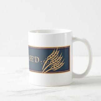 グルテンFree'D -青及びタンのクラシックなロゴ コーヒーマグカップ