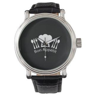グルメのためのフランスのなレストランのシェフの帽子 腕時計