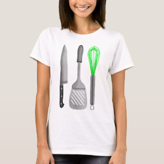 グルメの台所Untensilsパターン Tシャツ