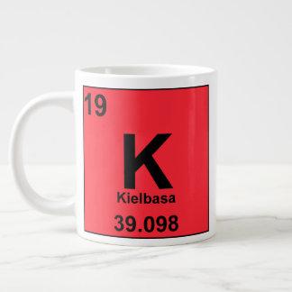 グルメの要素の周期表: Kielbasa ジャンボコーヒーマグカップ