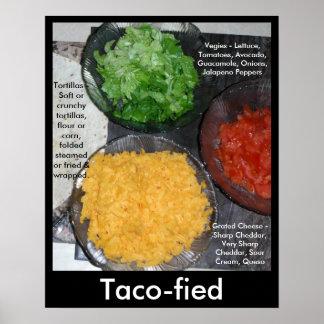 グルメポスタータコスのVegiesの健康な食べ物の食糧2 ポスター