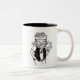 グルメ向きのマグ--ちょうど古く退職したなヒッピー ツートーンマグカップ
