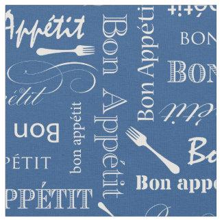 グルメ向きの台所糖菓のAppetitの青くカスタムな色 ファブリック
