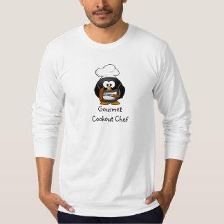 グルメ向きのcookoutのシェフ-長い袖のTシャツ Tシャツ