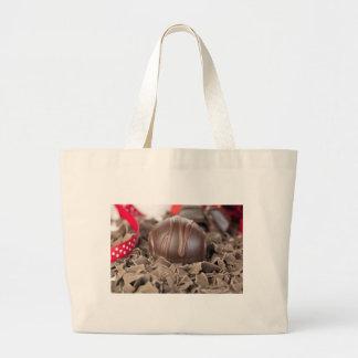 グルメ向きチョコレート布の買い物袋 ラージトートバッグ