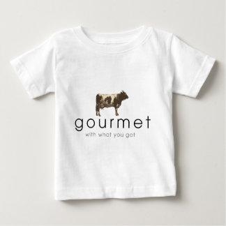 グルメ向き牛 ベビーTシャツ