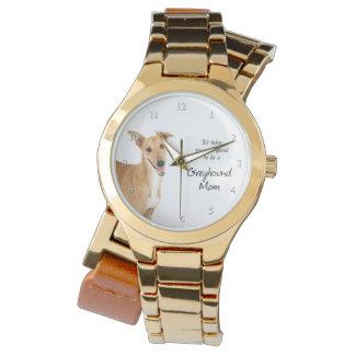 グレイハウンドのお母さんの腕時計 腕時計