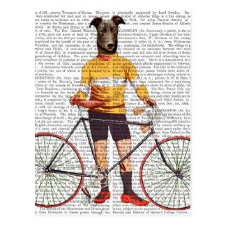 グレイハウンドのサイクリスト ポストカード