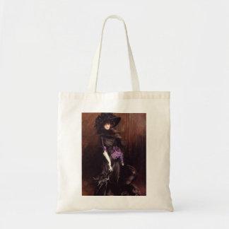 グレイハウンドのトートバックとの黒の女性 トートバッグ