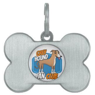 グレイハウンドのファン・クラブ ペットネームタグ