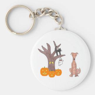 グレイハウンドの子鹿の秋Keychain キーホルダー