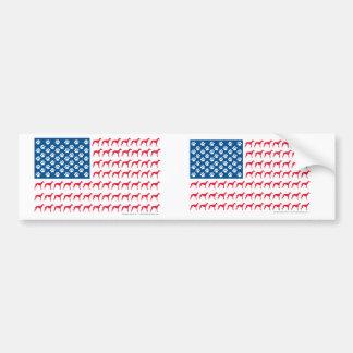 グレイハウンドの愛国心が強い旗 バンパーステッカー
