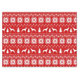 グレイハウンドはクリスマスパターンのシルエットを描きます 薄葉紙