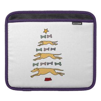 グレイハウンドレースの電話のクリスマスツリー iPadスリーブ