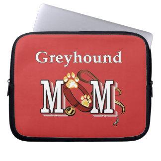グレイハウンド犬のお母さんのギフト ラップトップスリーブ