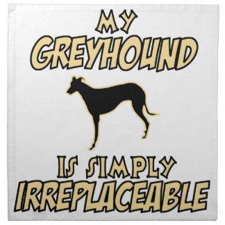 グレイハウンド犬のデザイン ナプキンクロス