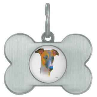 グレイハウンド犬 ペットネームタグ