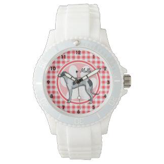 グレイハウンド; 赤と白のギンガム 腕時計