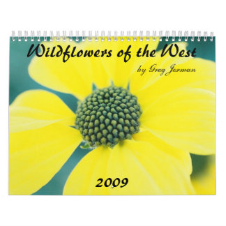 グレッグによって、西2009年の野生の花、…黄色にして下さい カレンダー
