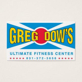 グレッグダウの最終的なフィットネス・センターの名刺 名刺