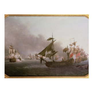 グレナダの島を離れた海軍戦闘 ポストカード