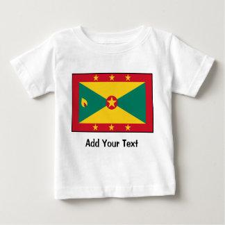 グレナダ- Grenadian旗 ベビーTシャツ
