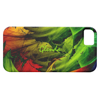グレンダのための緑および赤いiPhone 5の箱 iPhone SE/5/5s ケース