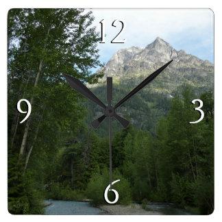 グレーシャー国立公園のマクドナルドの入り江 スクエア壁時計