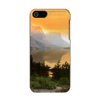 グレーシャー国立公園の野生のガチョウの島 メタリックiPhone SE/5/5sケース