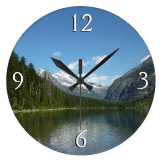 グレーシャー国立公園のavalanche湖I ラージ壁時計