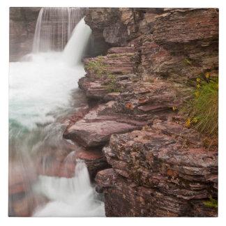 グレーシャー国立公園のSt Maryの滝 タイル