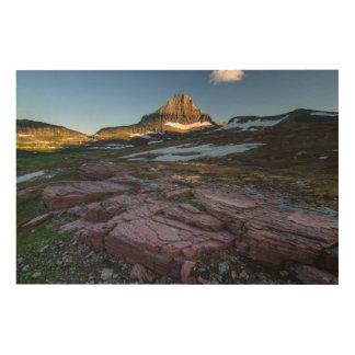 グレーシャー国立公園山 ウッドウォールアート