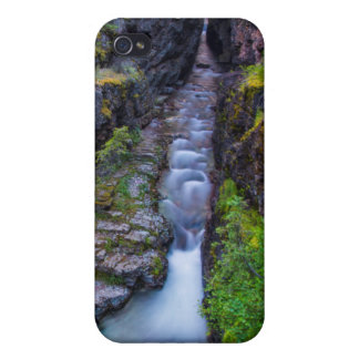 グレーシャー国立公園、モンタナのSunriftの峡谷 iPhone 4 ケース
