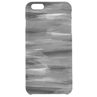 グレースケールの抽象的な羽のiPhoneの場合 クリア iPhone 6 Plusケース