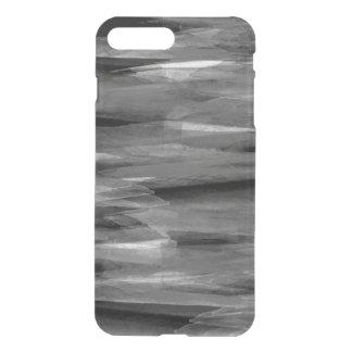 グレースケールの抽象的な羽のiPhoneの場合 iPhone 8 Plus/7 Plus ケース