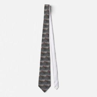 グレースケールの納屋 ネクタイ