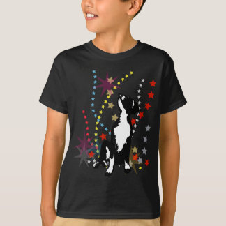 グレートデーンのおもしろいな星 Tシャツ
