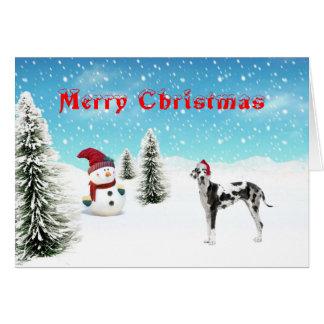 グレートデーンのクリスマスカード カード