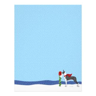 グレートデーンのクリスマス郵便ふた レターヘッド