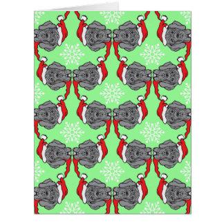 グレートデーンのクリスマス カード