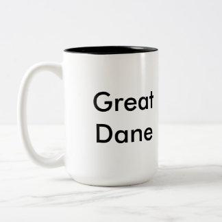 グレートデーンのコーヒー・マグ ツートーンマグカップ
